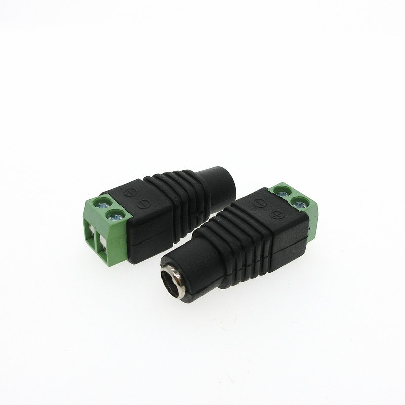 10 Pcs CCTV Cameras 2.1mm x 5.5mm female DC Power Plug Adapter male DC connectors for CCTV security system