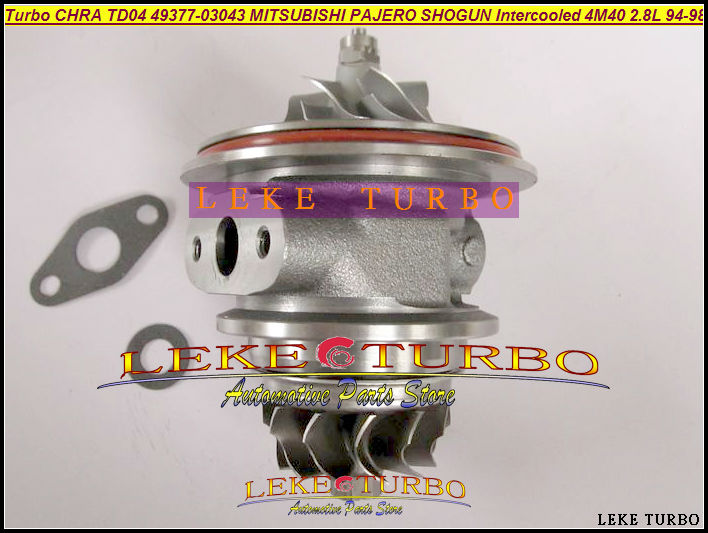 купить Turbo cartridge chra core TD04 49377-03041 49377-03043 ME201636 ME201258 Turbocharger for Mitsubishi Pajero 2 4M40 2.8L TD 125HP по цене 6111.62 рублей