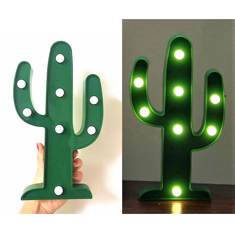 3D LED Flamingo Lamp Pineapple Cactus Light Romantic Night Lamp ...