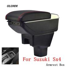 Armrest box For Suzuki Sx4 2007-2013 central Store content Storage box armrest box with cup holder ashtray accessories for suzuki jimny armrest box jimny2007 2018universal car central armrest storage box cup holder ashtray modification accessories