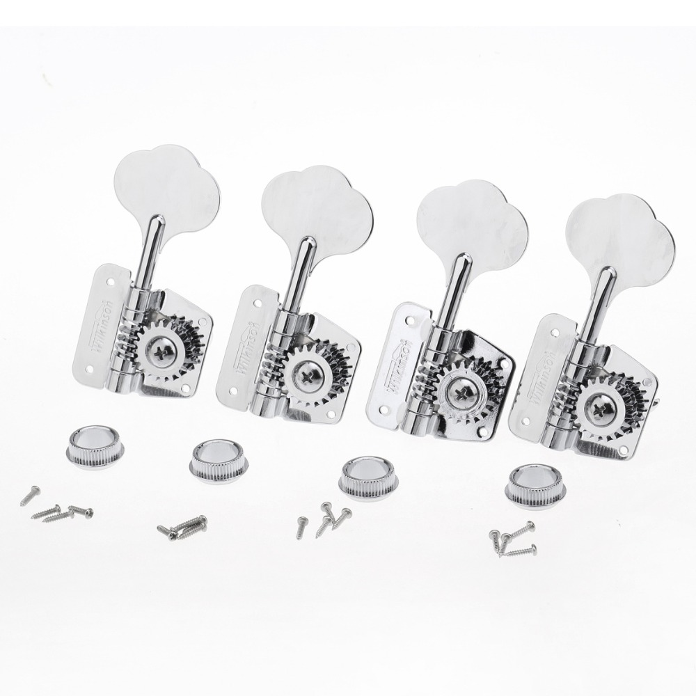 Wilkinson 4-In-Line 70s Vintage Style Bass Tuners Tuning Pegs Keys Machine Heads Set for Precision Jazz BassWilkinson 4-In-Line 70s Vintage Style Bass Tuners Tuning Pegs Keys Machine Heads Set for Precision Jazz Bass