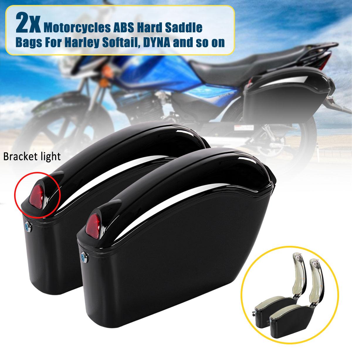 1Pair 26L Waterproof Motorcycle Bag Luggage Hard Trunk Saddlebags Sade Case for Motorbike Tool ABS Hard Saddle Bags Side Box