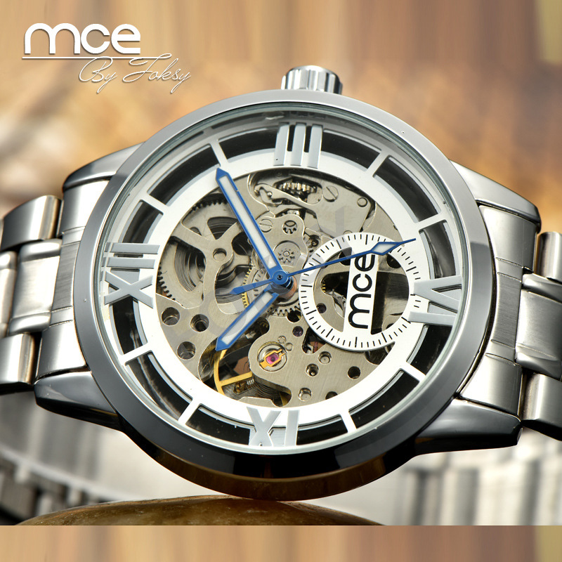 Silver Business Watch Clock Men Relogios Skeleton Mens Watches Top Brand Luxury Montre Leather Wristwatch Men Mechanical Watch стоимость