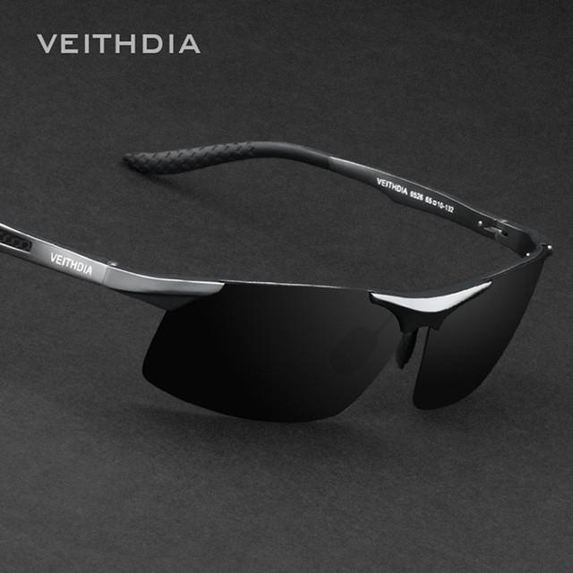Lujo Marca Veithdia Hombres Polarizados UV400 gafas de Sol Para Los Hombres gafas de Conducción Del Conductor Del Coche Deportivo de Pesca Masculinos Famosos Originales Gafas de Sol