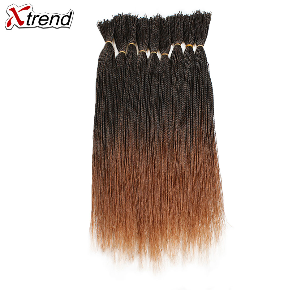 Xtrend Synthetic-Hair Braids Twist-Crochet Senegalese Brown 100strands-Per-Pack Micro
