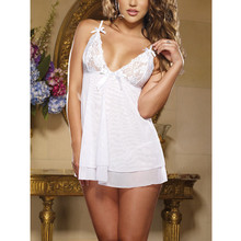 Lace sexy lingerie set lure pajamas Women Sleepwear Nightwear Erotic lingerie clothes white black blue high quality
