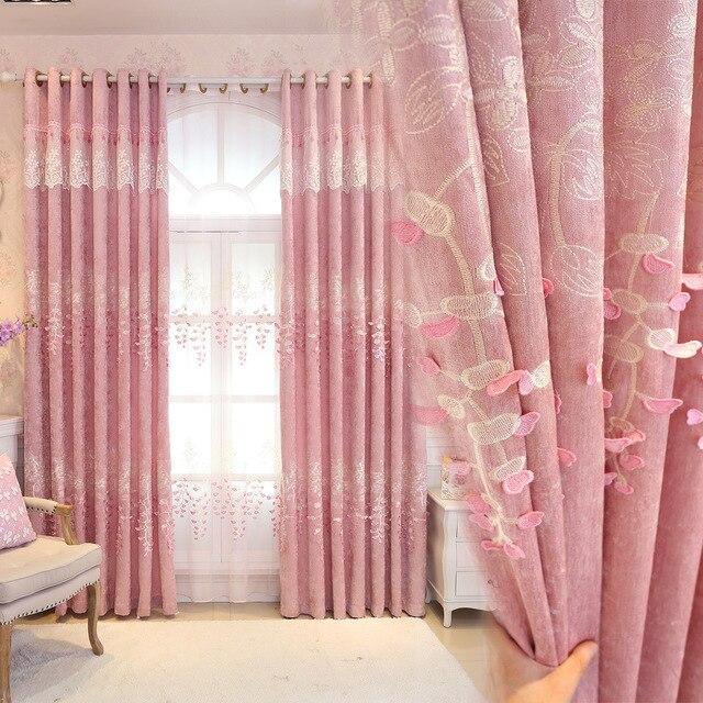 Roze Prinses Gordijnen Meisjes Kamer Stroomden bloem Comfortabele ...
