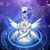 Cool Digimon Adventure Necklace Pendant Anime 925 Sterling Silver Wings of Hope Type Costume Collection Costume Accessories