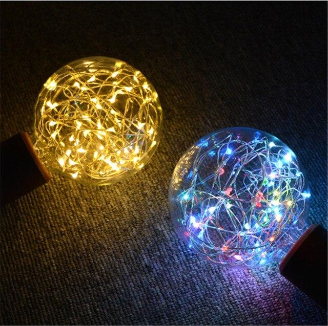 2019 Christmas RGB LED Night Light Filament lamp Edison Retro LED light String Bulb  Dragon Ball Decoration led lamp  G95 E27