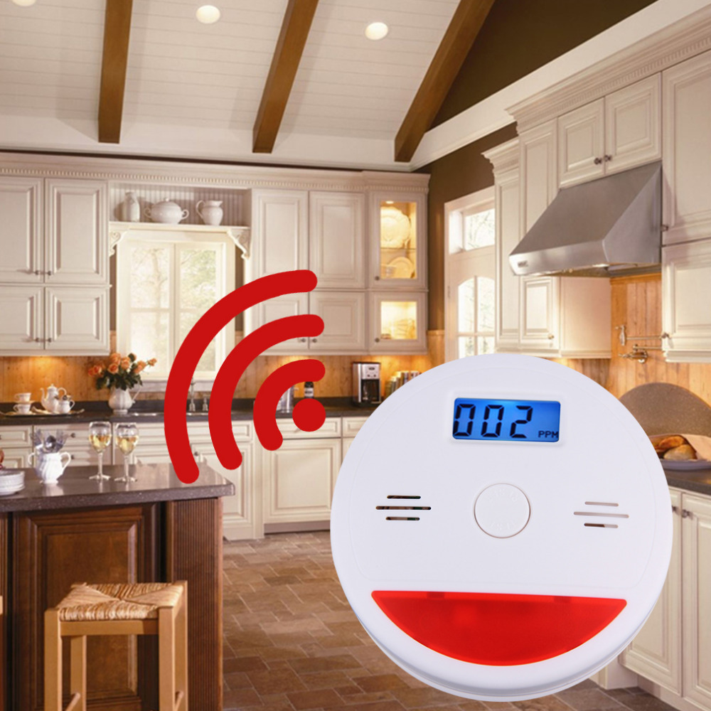 Carbon Monoxide Detector Sensor LCD Gas CO Alarm Tester independent LCD Display Poisonous CO Gas Detectors uyigao ua6070b handheld automotive oxygen meter high precision o2 gas tester monitor detector with lcd display sound light alarm