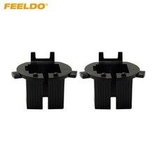 Feeldo 2 шт. автомобиля лампы гнездо адаптер для преобразования Hyundai Новый Santa Fe H7 ксенон луч установки #1347