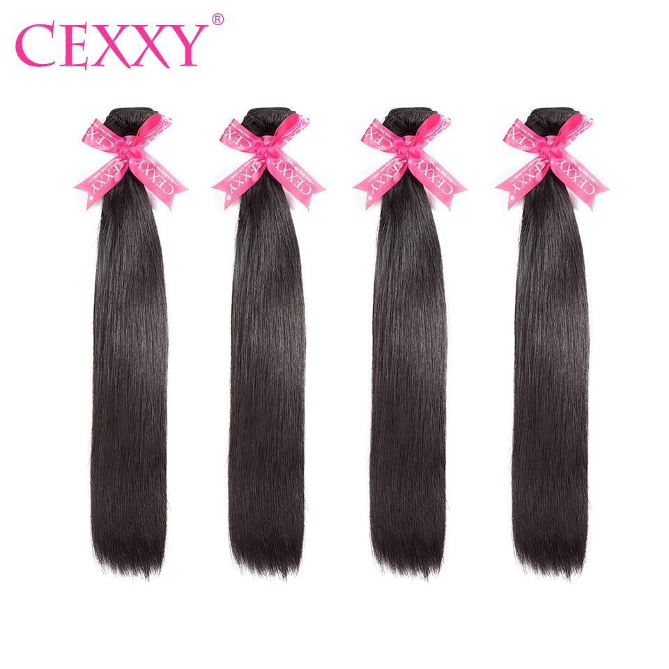 8A CEXXY pelo virginal peruano recto 4 paquetes Lot cabello humano Lía  Color Natural del 22f26ef8dc20