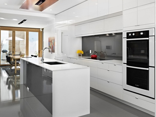 Keukenkast Wit Hoogglans : Wit hoogglans moderne keukenkast in wit hoogglans moderne