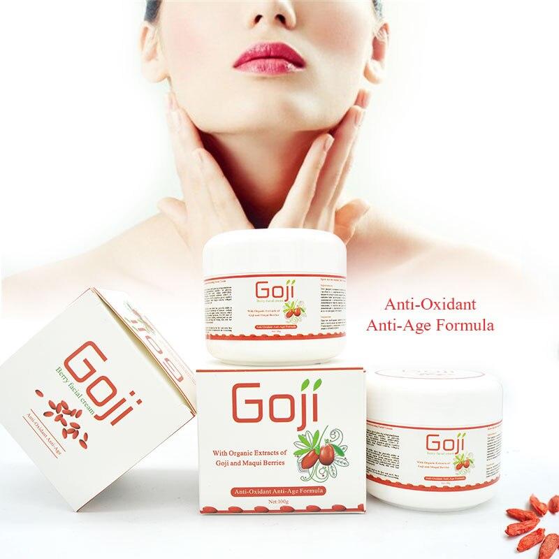Acide hyaluronique de goji crème goji crème faciale nèfle multi effet anti-rides Inhiber l'activité de la tyrosinase