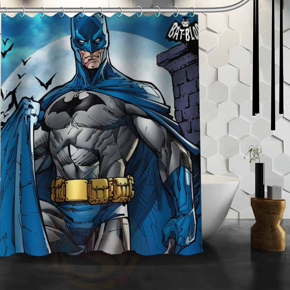 Batman shower curtain - Classical Super Man Film Batman Printed Home Decorative Shower Curtain Eco Friendly Polyester Material Made