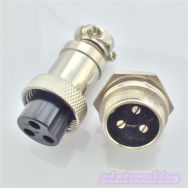 1set GX16 3 Pin Male Female L71Y Diameter 16mm Circular Connector Aviation Socket Plug Wire Panel Connector High Quality On Sale