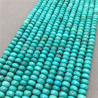 MY0151 Green Tophus Beads Faceted Flat Rondelle Beads Natural Stone Beads For Jewelry Making 15 5