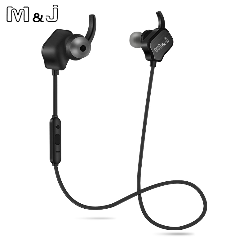 M&J SD100 QY12 Sport Wireless Bluetooth Earphones Magnet Running Headset With Mic Noise Cancelling For Iphone X Android Samsung new dacom carkit mini bluetooth headset wireless earphone mic with usb car charger for iphone airpods android huawei smartphone