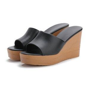 Image 3 - Morazora 2020 最高品質の本革サンダルの女性のファッションウェッジプラットフォームサンダルサマーパーティーウエディング靴女性のスリッパ