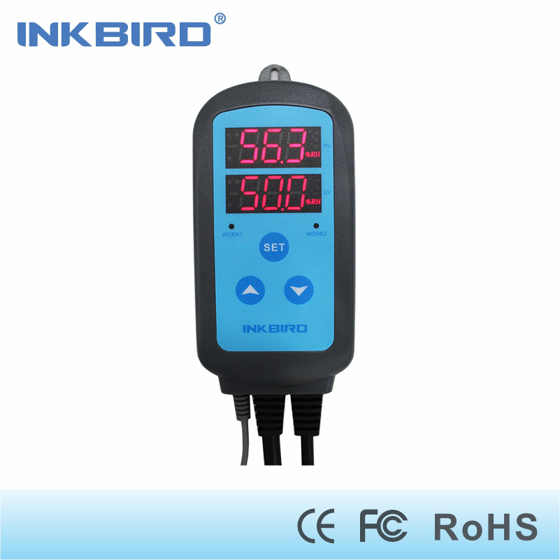 Inkbird IHC-200 Thermometers & Timers Digital Humidity Temperature Controller  Dehumidification Humidifaction Control for Fan 220v digital air humidity control controller wh8040 range 1