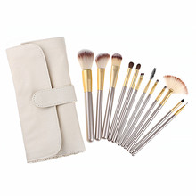 2017 High quality Make Up Brushes 12pcs Professional Cosmetics brush With PU Bag As Makeup Tool For Beauty Essential Brush Set