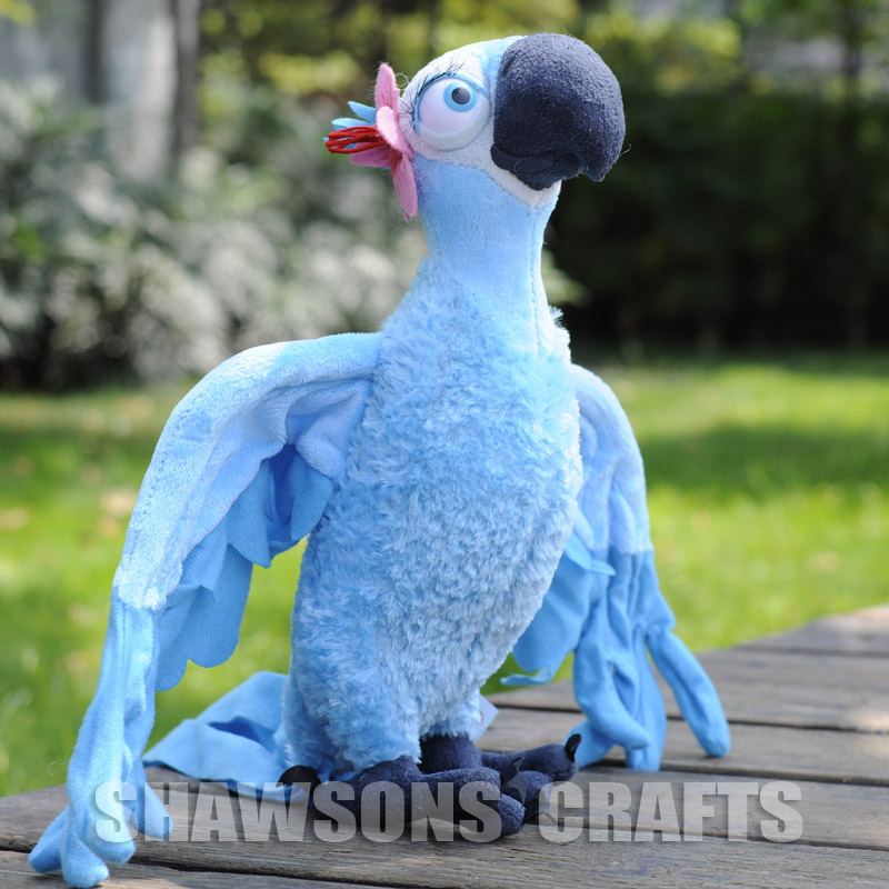 Rio Movie Figure Blu Jewel Plush Toy Macaw Parrot Blue Birds