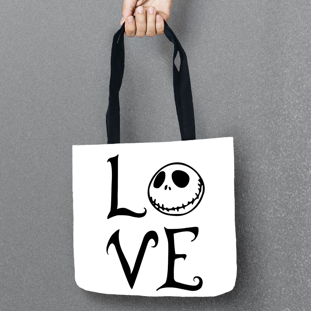 The Nightmare Before Christmas Tote Storage Bags Women Shoulder ...
