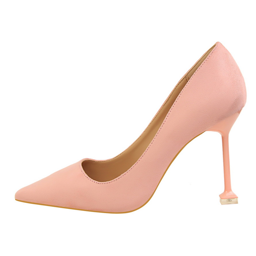 Red Black Thin High Heels Women Designer Shoes 2017 Flock Ladies Wedding Shoes Bridal Stiletto Sexy Pumps Shoes DS A0042 in Women 39 s Pumps from Shoes