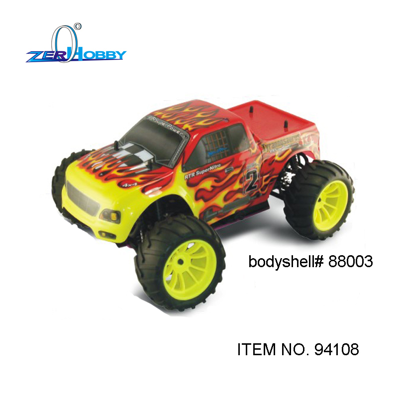 Hsp Rc Truck Nitro Gas Power Off Road Monster Truck 94188: HSP RACING 1/10 SCALE NITRO POWER 4X4 OFF ROAD REMOTE