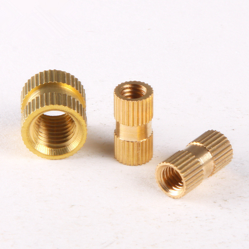 100PCS Brass Knurled Nuts Insert Embedded Nuts M3 *3* 5 GB809 m2 copper flower mother nut double injection through knurled insert m3x8m3x15
