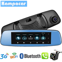 Kampacar Auto Dash Cam Car DVR With GPS Car Mirror Camera GPS Navigation FHD 1080P Car Video Recorder 3G WiFi Camera For Cars