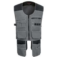 New Men Work Vest Safety Clothing Multi pockets Tool Vest Multi functionnal Photographer Carpener Mechanic Workwear Tops 2 color