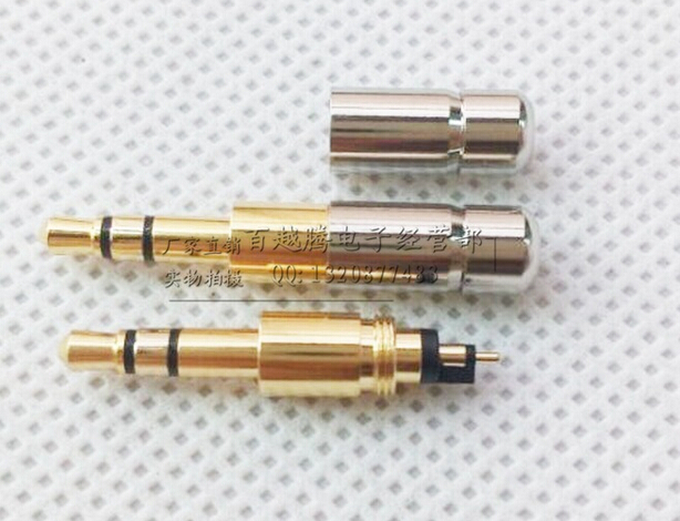 20pcs Gold Plated mini Copper 3.5mm 3 pole with long long shaft plug Audio plug soldering connector areyourshop sale 20pcs gold plated stereo 3 5mm 3 pole repair headphone jack plug cable audio adapte