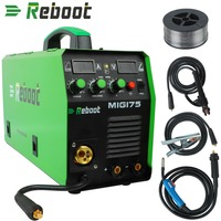 MIG Welder MIG 175 Gas/Gasless DC 220V 1KG/5KG 2 in 1 Flux Core Wire And Solid Wire IGBT Inverter Welding Machine MMA MIG MAG