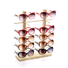 Wooden Glasses Shelves Jewelry Display Rack Glasses Organizer Bangle Stand Glasses Holder Necklace Display Wood Rack A282