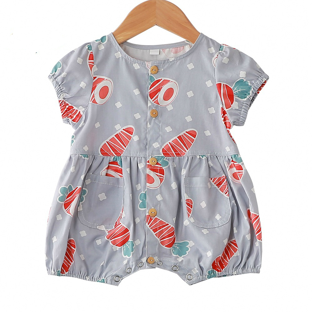 Reasonable Newborn Baby Girls Rompers Single Breasted Cotton Baby Girl Clothes Spring Summer Jumpsuits Outfits Sunsuit Baby Clothing Bodysuits & One-pieces