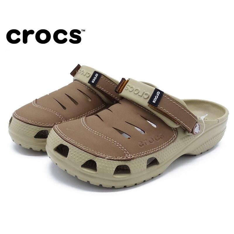 CROCS 2019 été sabot hommes plage sandales noir Crocs-chaussures eau sandales maillots de bain hommes été plein air chaussures décontractées