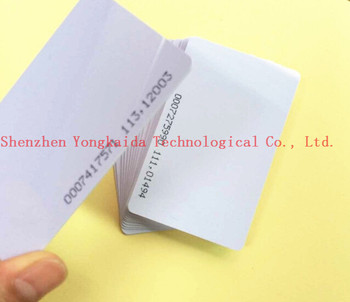 200PCS 125khz Proximity Unique ID number RFID EM4100 Blank Card For Door system/ access control system smart blank card