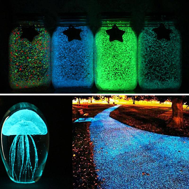 Warnen Aquarium Leucht Sand Night Glow Dark Helle Leuchtende Leuchtstoff Partikel Aquarium Dekoration Farbe Straße Flasche Beleuchtung Novel (In) Design;