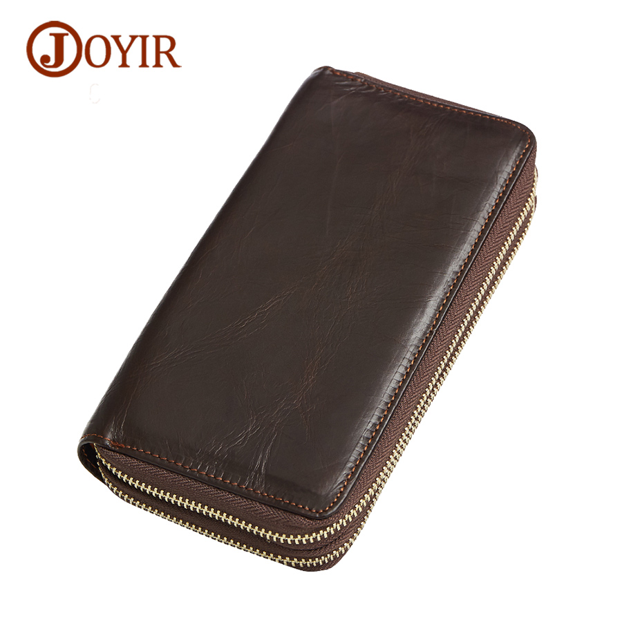 Joyir genuine leather wallets men long wallet purse card holder cash purse clutch men luxury brand zipper men clutches 9315  new fashion men wallet pu leather purse handbags for male luxury brand black no zipper men clutches free shipping card holder