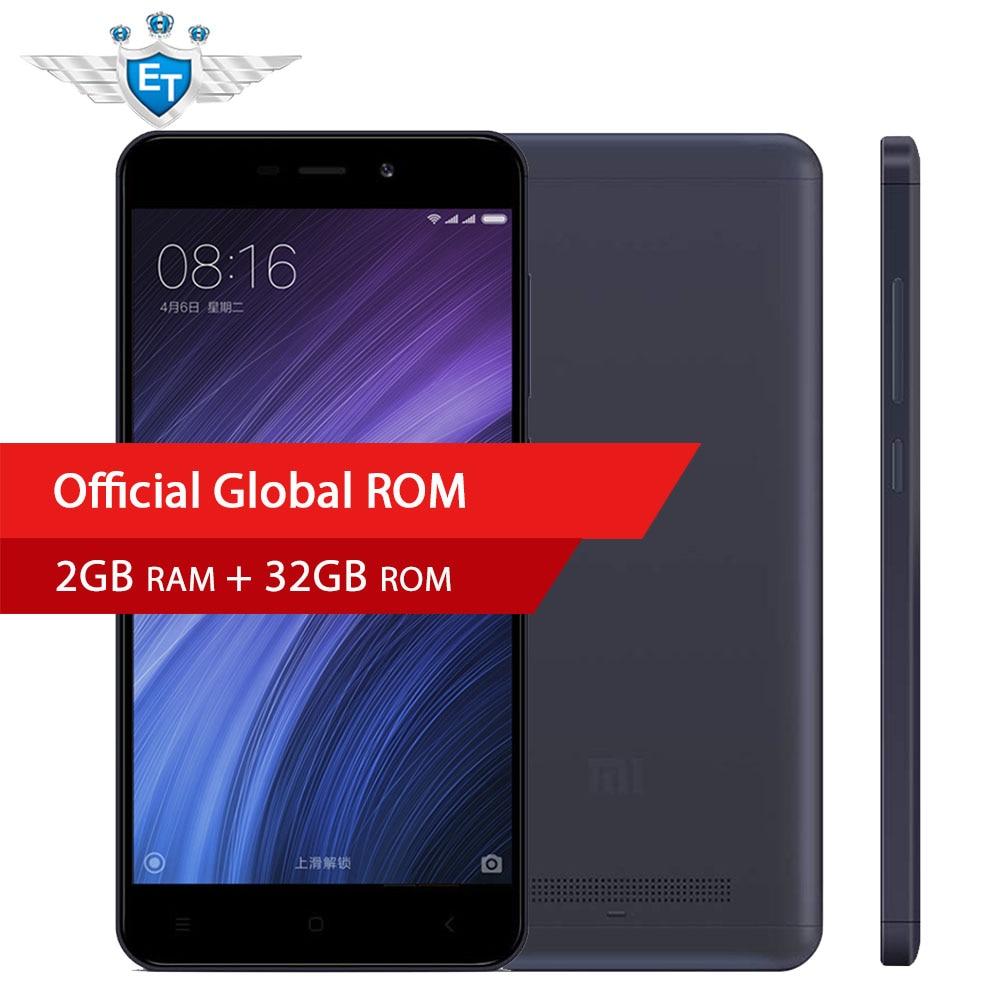 Original Global Version Xiaomi Redmi 4A Mobile phone 5.0 inch RAM 2GB ROM 16GB Snapdragon 425 Quad Core 13MP Camera MIUI 8