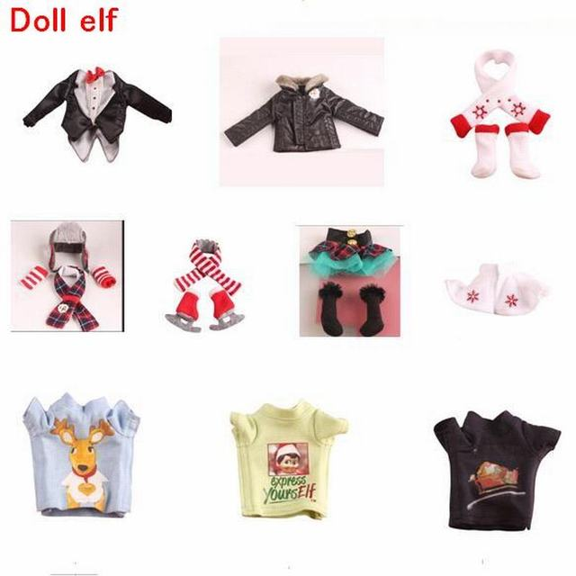 Tatalia 37cm Doll Elf Plush Dolls Toys Soft Book Clothes Gift Red Boy Girl Doll On The Shelf Christmas Toys For Kid Children Toy