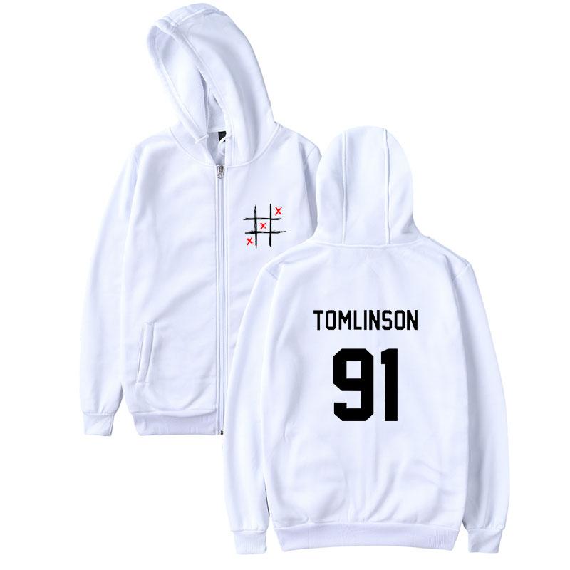 BTS England Singer Louis Tomlinson 91 Print Women Zipper Sweatshirt Fashion Zipper Hoodies Sweatshirt Men Casual XXS-4XL Clothes