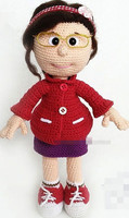 crochet toys amigurumi handmade girls rattle doll model number ES0126
