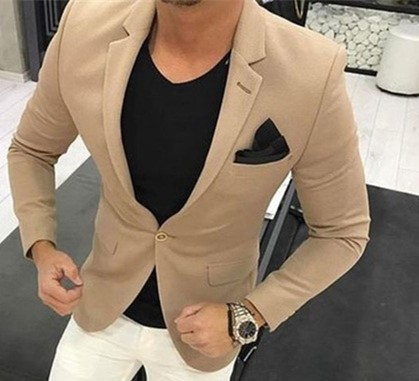 Latest Brown men wedding suits khaki Mens Casual Suit Blazer Skinny Tuxedo Custom 2 piece kingsman Jackets Terno Masculino