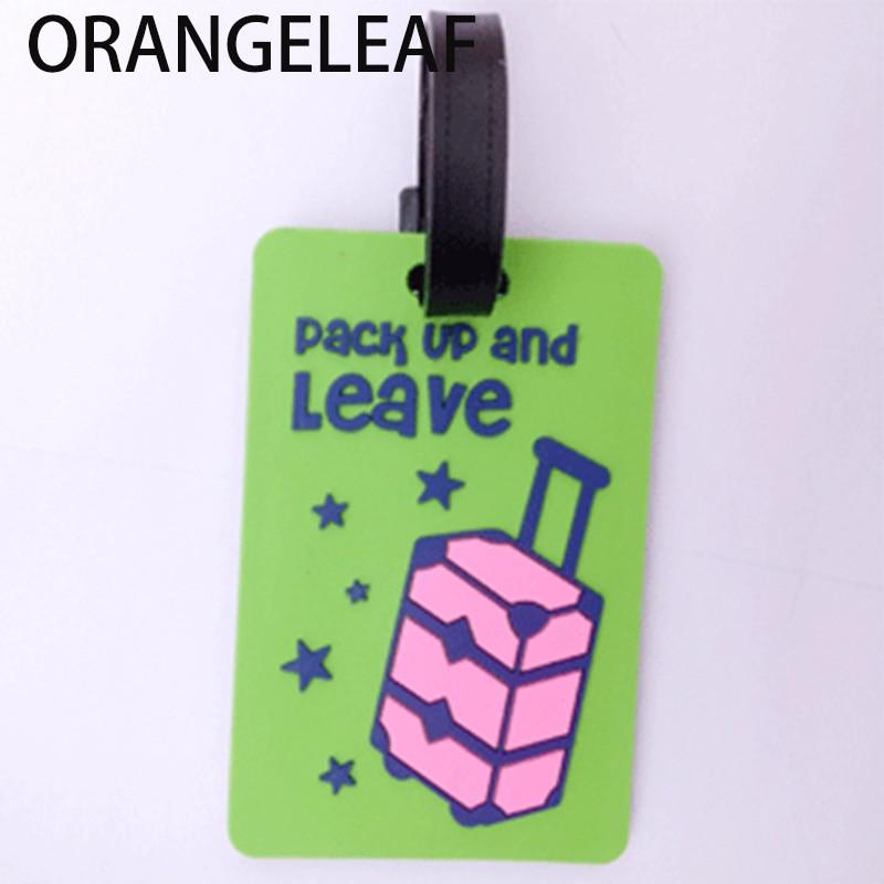 1Pcs Saobao Travel Luggage Tag Dragon PU Leather Baggage Suitcase Travel ID Bag Tag