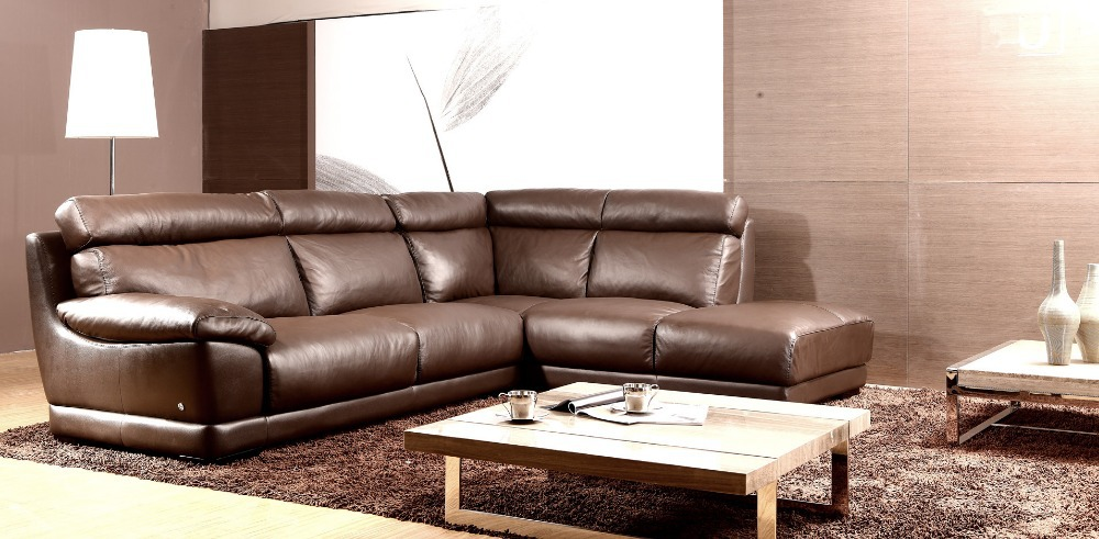 Cheap Sectional Sofa Leather Modern Feather 8006BChina