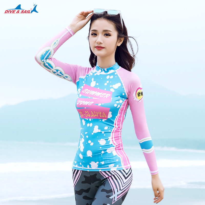 Mulher verão praia uv proteção solar manga longa rash guard wetsuit natação t shirt + breve leggings surf mergulho rashguards