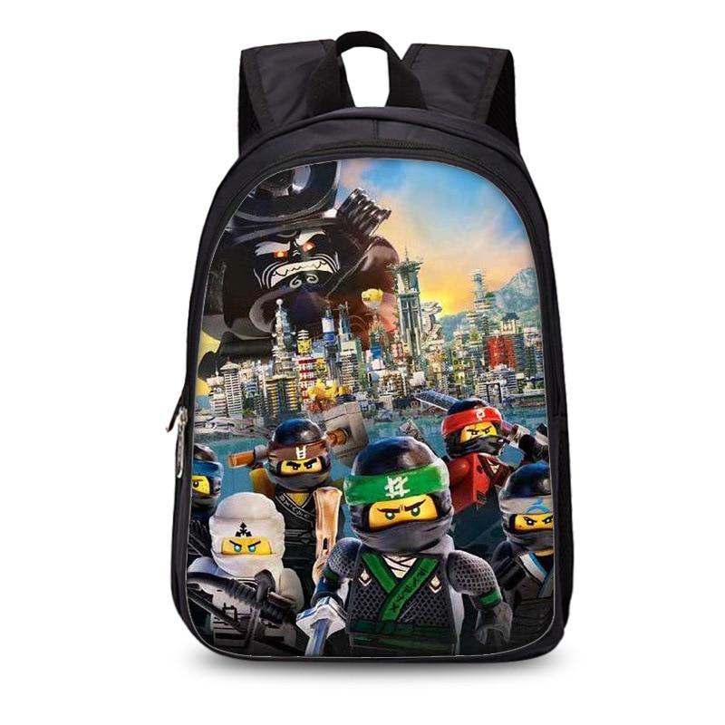 Kids 3D Cartoon School Bags Boys Girls Backpacks Lego Ninjago Pattern School Bag Kids Daily Backpacks Best Children's Satchel