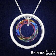 Collar de gargantilla de lujo colgante para para genuino con Swarovski Elements cristal austriaco moda nupcial partido de la joyería Colar